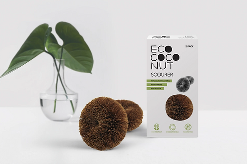 EcoCoconut Scourers Twin Pack