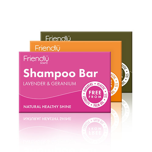 Friendly Soap Bath Set - Shampoo, Cleanser & Soap Bar