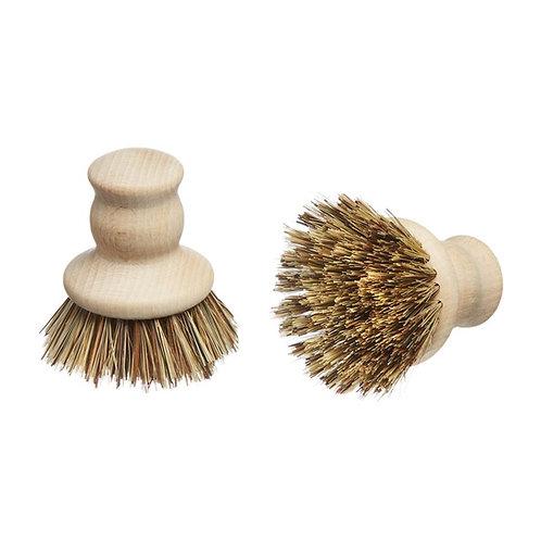 EcoLiving Wooden Pot Brush - Natural