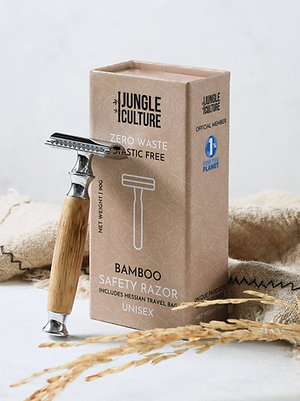 Jungle Culture Stainless Steel Safety Razor - Bamboo