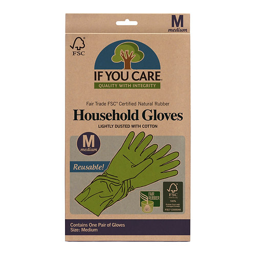 If You Care Fair Trade Latex Household Gloves - Size M