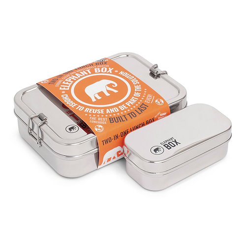 Elephant Box Two-In-One Lunch Box - Stainless Steel