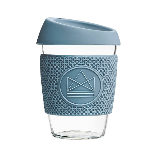 Neon Kactus Glass Coffee Cup - Super Sonic Blue