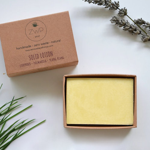 Zero Waste Path Solid Lotion Moisturising Bar - Floral
