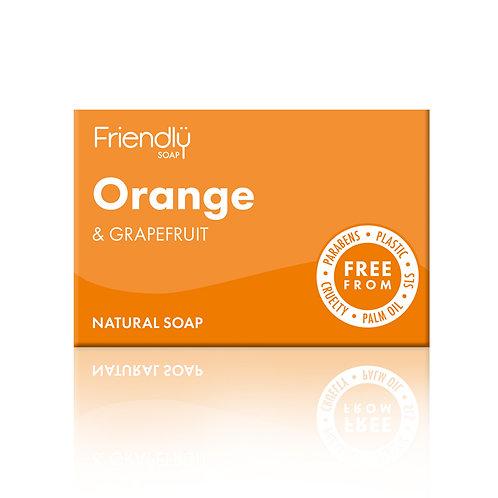 Friendly Soap Natural Soap Bar - Orange & Grapefruit