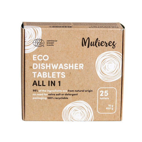 Mulieres Dishwasher Tablets - All In One 25 Tabs
