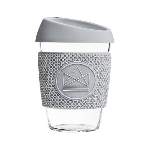 Neon Kactus Glass Coffee Cup - Forever Young Light Grey