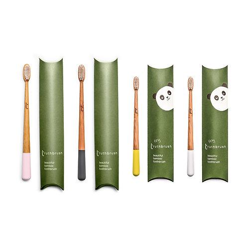 Truthbrush - Family Set: Pink, Grey, Yellow, White
