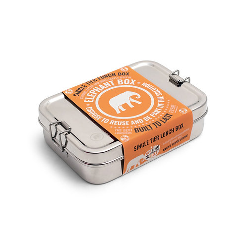 Elephant Box Single Tier Lunch Box - Stainless Steel