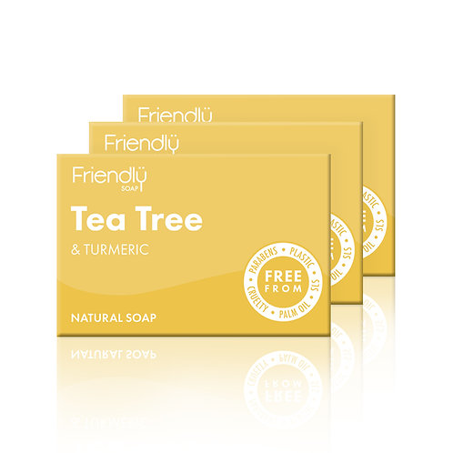 Friendly Soap Tea Tree & Turmeric Soap - Set of 3