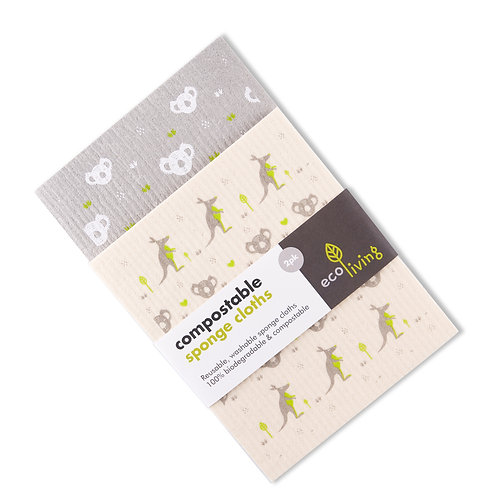 Compostable Sponge Cloth - Pack Of 2