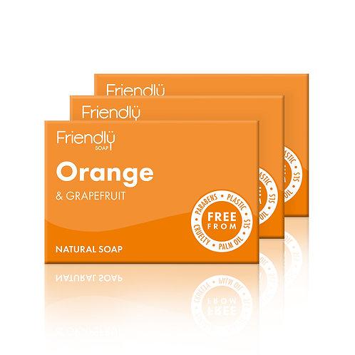 Friendly Soap Orange & Grapefruit Soap - Set of 3