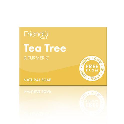 Friendly Soap Natural Soap Bar - Tea Tree & Turmeric
