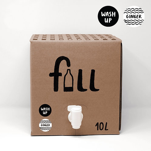 Fill Washing Up Liquid Bulk 10L - Ginger