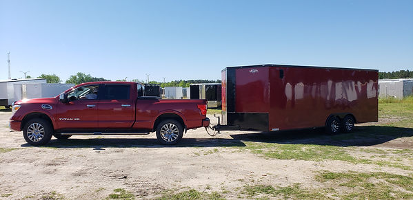 Bandywine Diamond Cargo Car Hauler hiched to Toyota Tundra