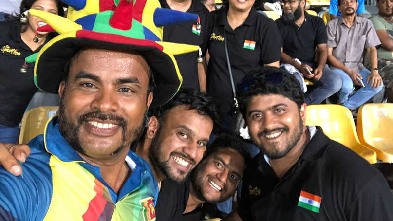 Indo-Sinhalese gang united by Cricket - Premadasa Stadium, Sri Lanka