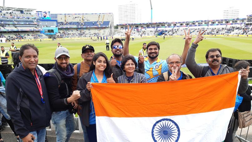 Cheer team India - Edgbaston, UK