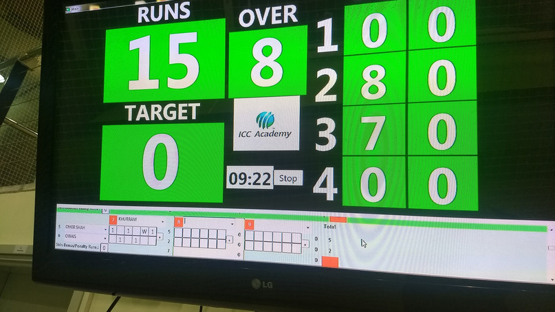 Decipher the scoreboard of indoor cricket - Dubai