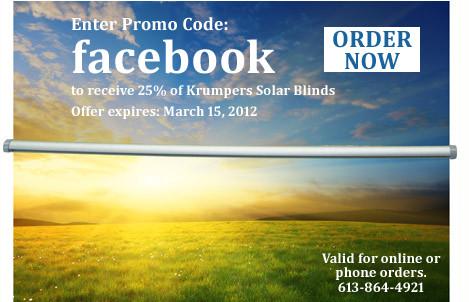 Solar Blind Discount
