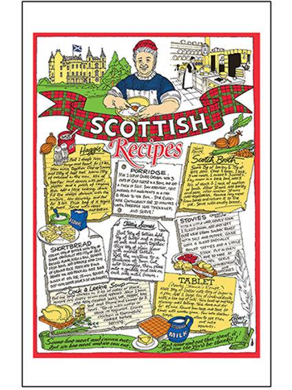 T6R - Scottish Recipes Tea Towel
