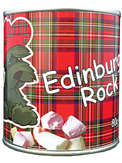CF03E - Scottie Dog Edinburgh Rock Tin 80g
