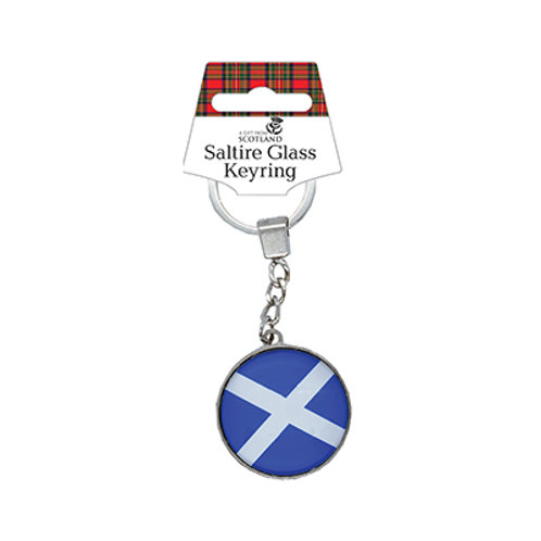P5A - Saltire Glass Look Keyring