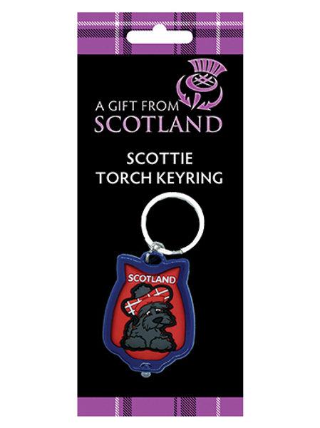 P6D - Scotland Scottie Dog Torch Keyring
