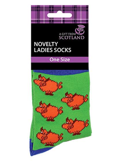 SOC06 - Ladies Highland Coo Socks