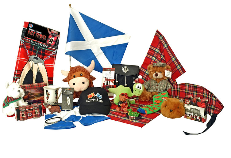 scottish, souvenirs, gifts, tartan, scotland, flag, kilt towel, highland coo, cow, celtic, pewter, pendant, mug, piper, westie, boxers, saltire, scarf, sporran, thistle, bagpipes, teddy, tweed, baseball cap, crossflags, leatherwhisky, fudge, hairy haggis, nessie, socks.