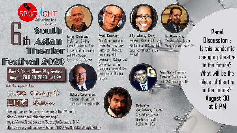 6thSATF Diigital Panel Discussion Flyer.