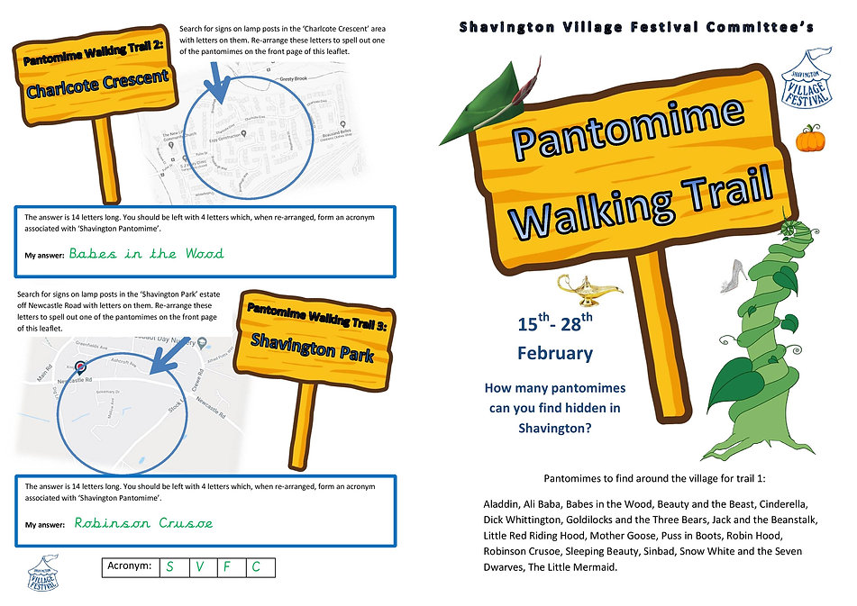 ANSWERS to pantomime trails 2 and 3-page