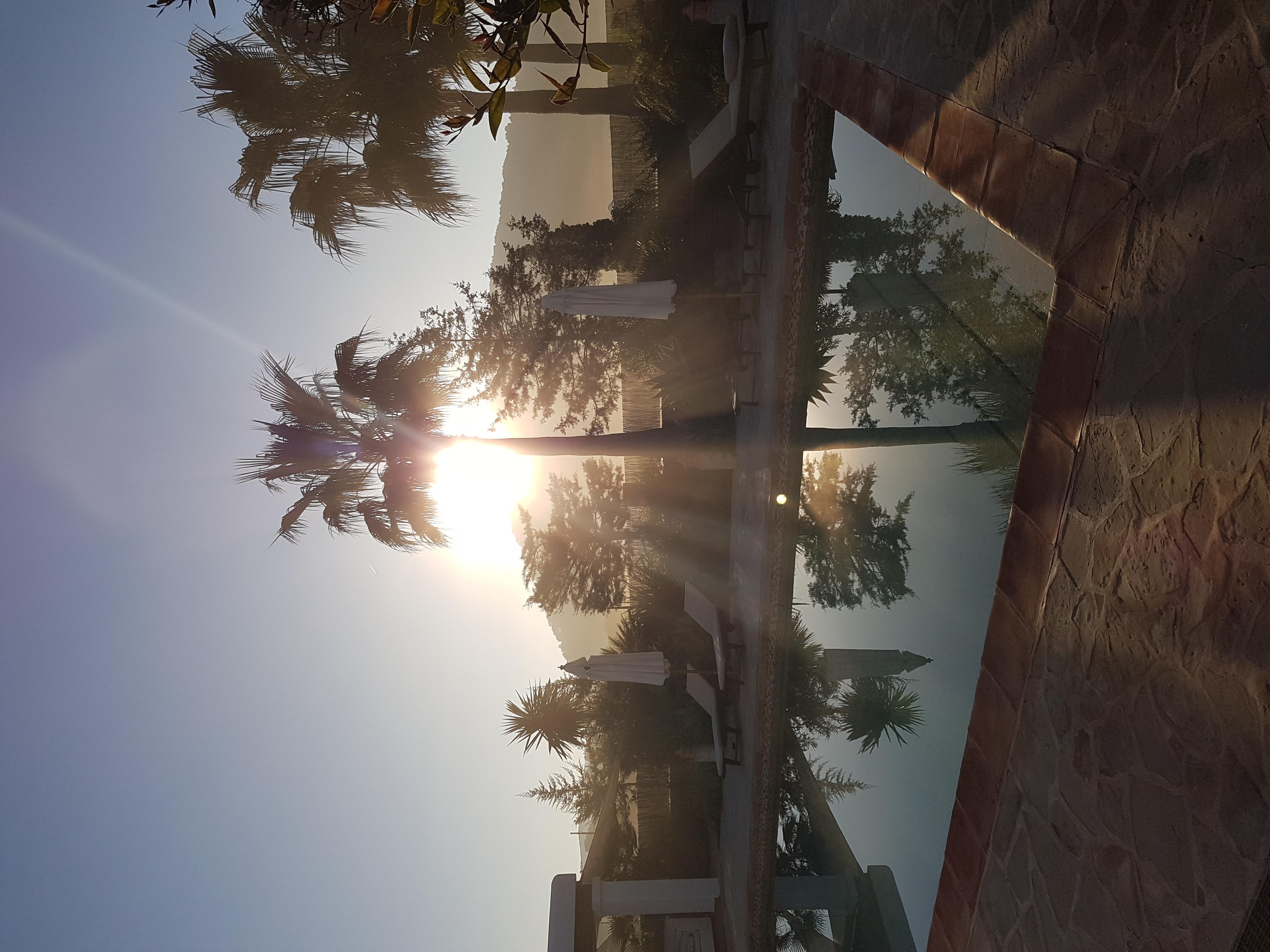 zonsopkomst bij de finca