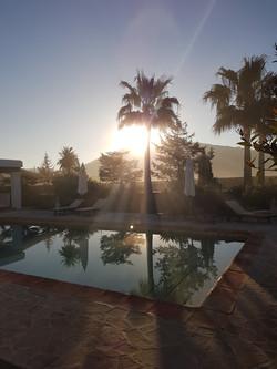 zonsopkomst bij de finca workation ibiza 2021