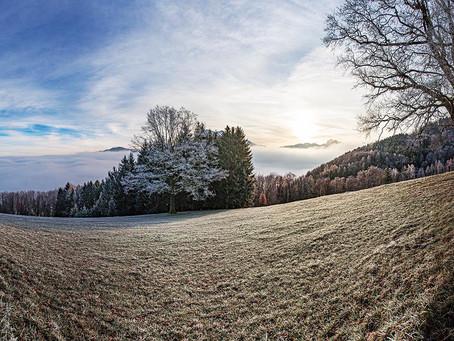Väterchen Frost am Traunsee