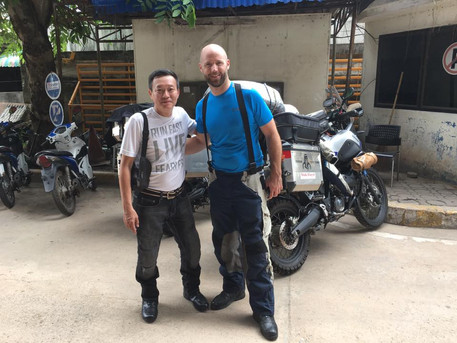 Meeting T on the Thai border by sheer concidence