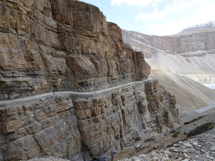 the road to Losar, India