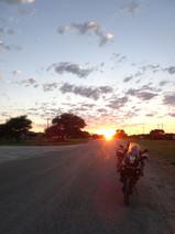 Sunrise in the Kalahari Desert