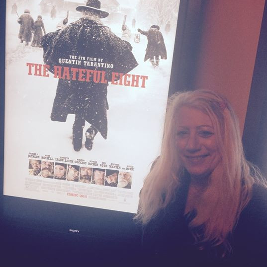 """Kathy & Colin went to screen """"The Hateful Eight"""" film in Hollywood"""