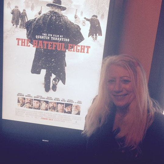 "Kathy & Colin went to screen ""The Hateful Eight"" film in Hollywood"