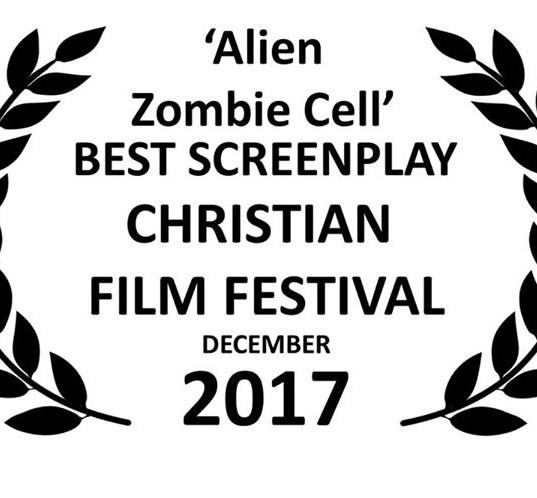 """""""Alien Zombie Cell"""" best screenplay award"""