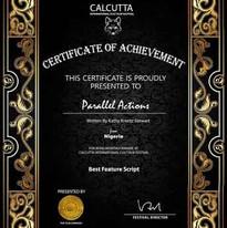 Calcutta International Cult FF accepts our script set in Nigeria