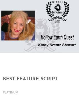 Kathy wins another Best Feature Script award