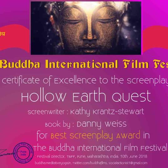 Hollow Earth Quest script winner at Buddha International Film Festival