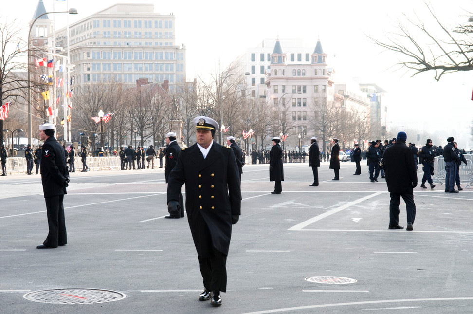 Officers from various agencies are deployed to ensure the President's protection.