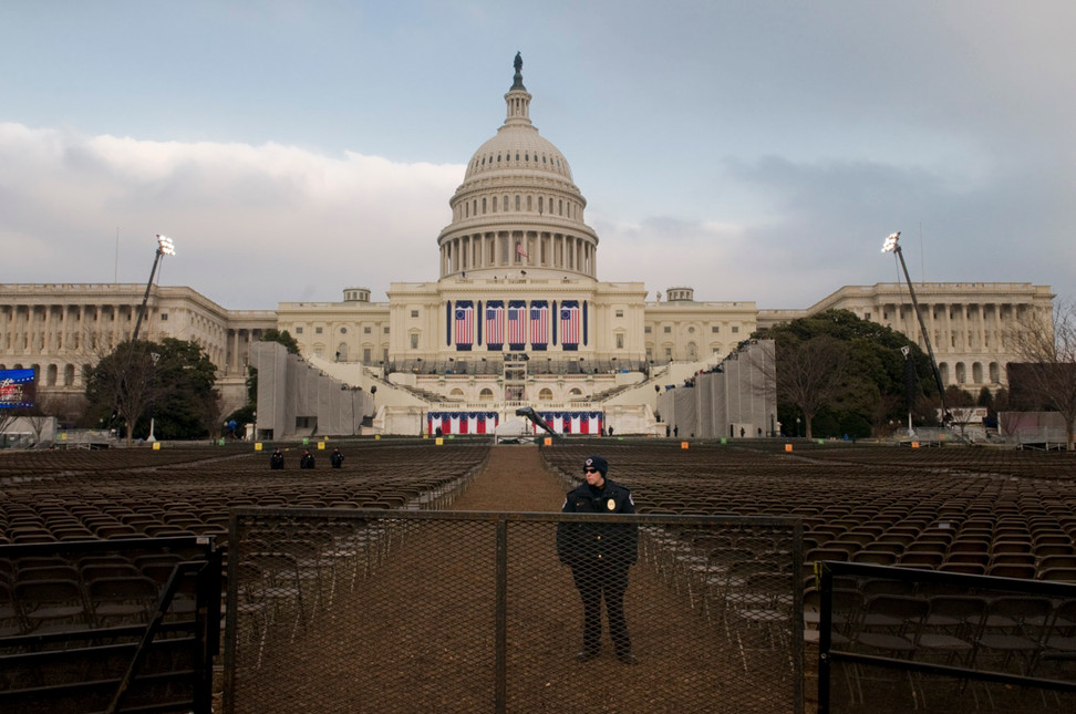 January 2009. The Nation's Capital prepares for Inauguration Day.