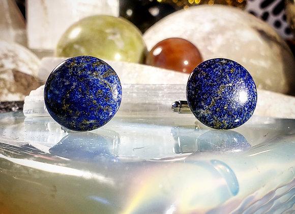 Lapis Lazuli Moon Cufflinks