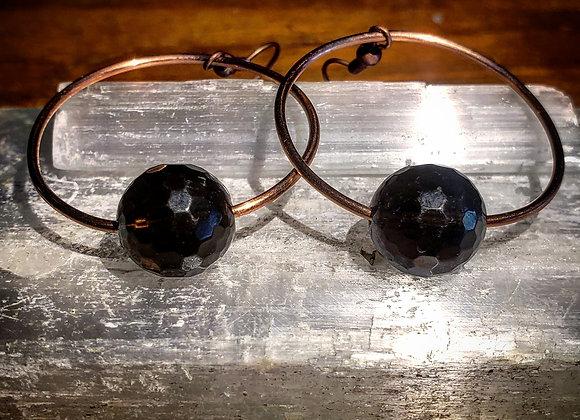 Smokey Quartz in Orbit Dangle Earrings