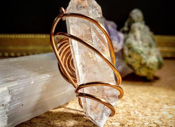 Massive Master Manifestor Clear Quartz Ring