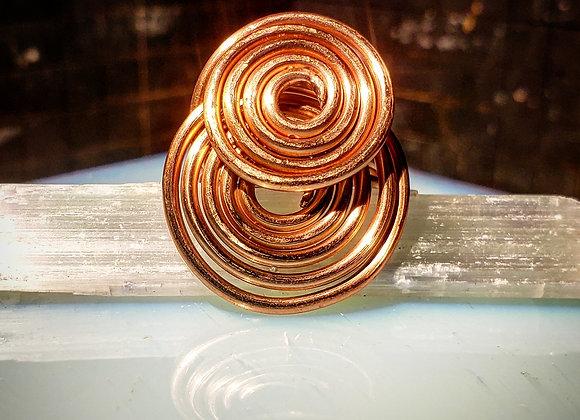 Copper Double Echos Ring Size 8