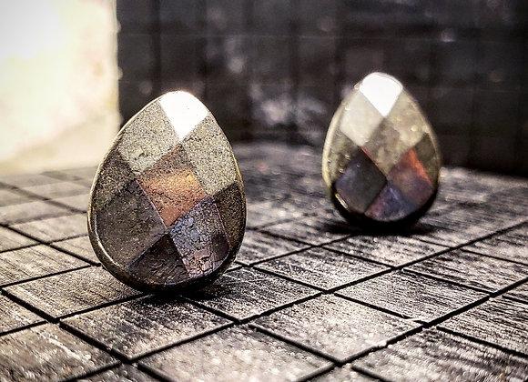 Pyrite Tear Drop Earrings